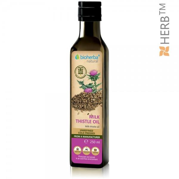 milk thistle oil, butter, milk thistle, organic herb