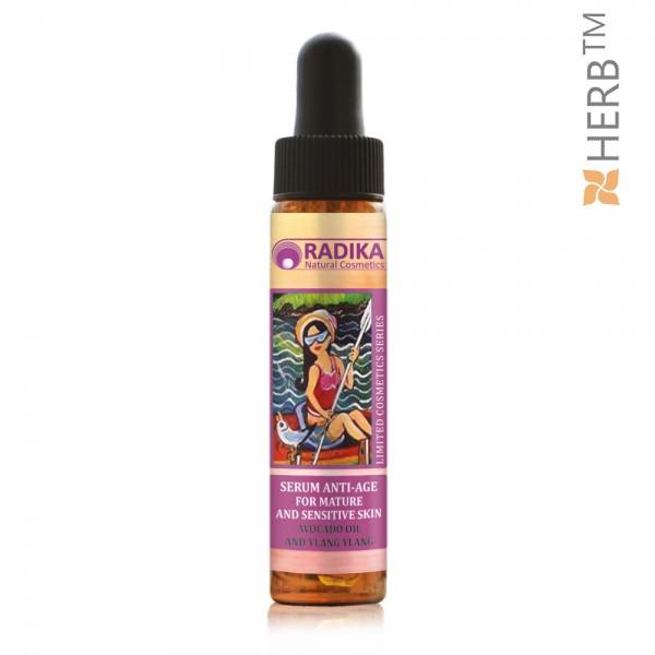 Anti-aging serum with Avocado and Ylang-Ylang oil, RADIKA