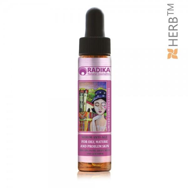 Anti-Age Serum with Organic Argan Oil, Grape Seeds and Geranium, RADIKA