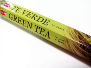 incense sticks, incense, green tea 20 pcs